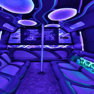 interior of Party buses for bachelor party